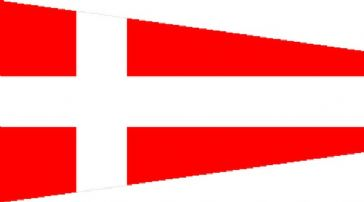 Number 4 Code Signal Pennant